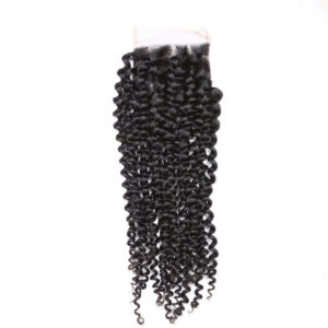 remy hair kinky curly lace closure