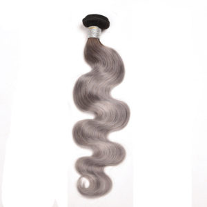 gray Ombre body wave hair weave