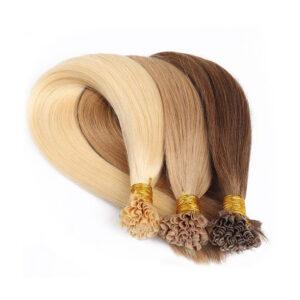 Nail tip human hair extension