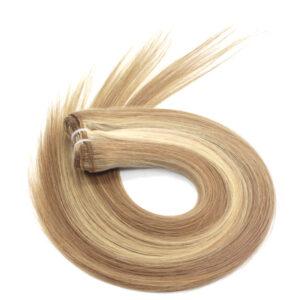 highlighted hair weave