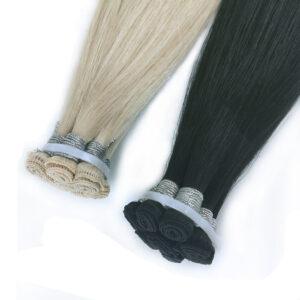 virgin human hair hand tied weft